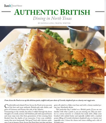 restaurant review, across the pond, food, restaurant